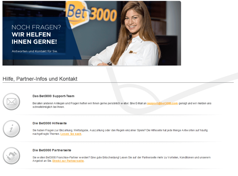 Bet3000 Kundenservice