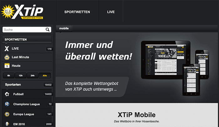 X Tip Wettbüro