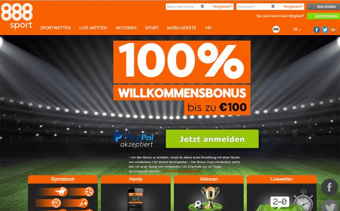 888 Sportwetten Einzahlungsmöglichkeiten